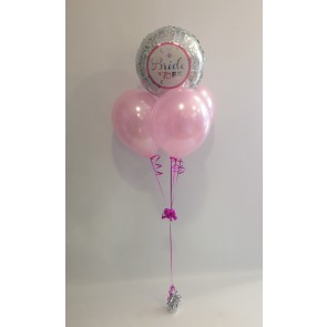 Bride to Be Silver & Pale Pink Balloon Bundle