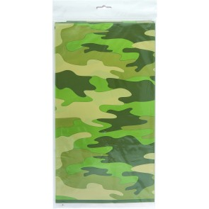 Camouflage Plastic Tablecover