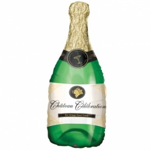 Champagne Bottle SuperShape Foil Balloon