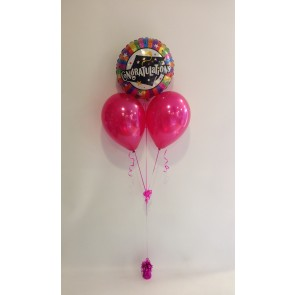 Congratulations Graduate Hot Pink Balloon Bunch