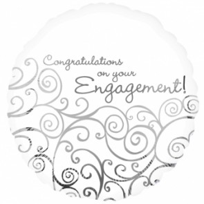 'Congratulations On Your Engagement' Foil Balloon