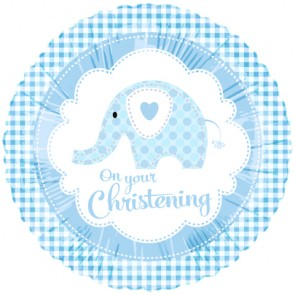 Blue Elephant Christening Foil