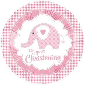 Pink Elephant Christening Foil