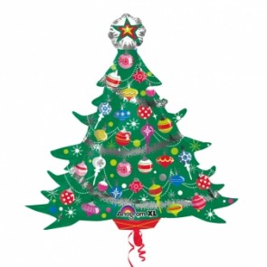 Decorated Christmas Tree Supershape Foil Balloon
