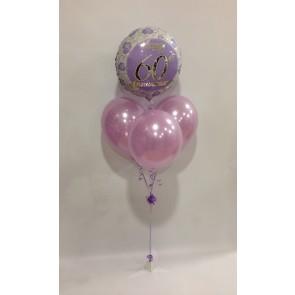 Diamond Anniversary Rose Lilac Balloon Bundle