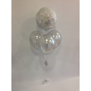 Engagement  Congratulations Silver Balloon Bundle