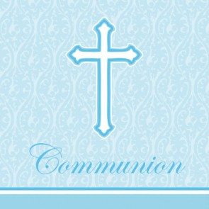 Blue Faith First Holy Communion Napkins