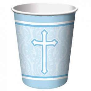 Blue Faith Paper Cups