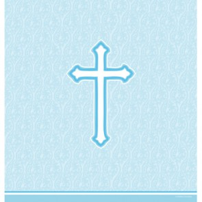 Blue Faith Plastic Tablecover