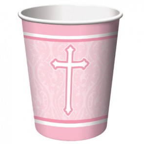 Pink Faith Paper Cups