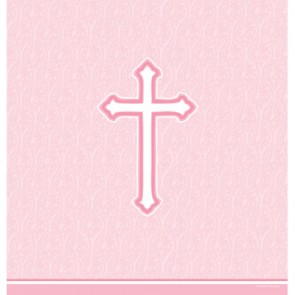 Pink Faith Plastic Tablecover