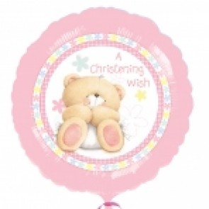 Forever Friends Pink Christening Foil Balloon
