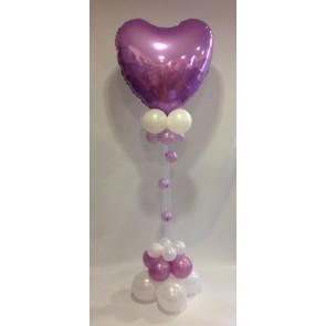 Lilac Heart Shaped Floating Bubble Statement Piece