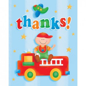 Fun at One Boy Thank You Cards