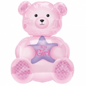 Girl Bear SuperShape Foil Balloon