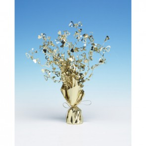 Gold Loveheart Spray Centerpiece