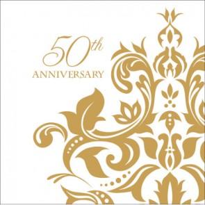 Golden Wedding Anniversary Napkins