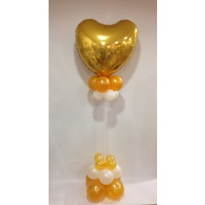 Large Gold and White Heart Statement Piece