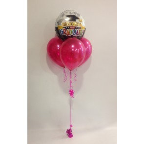 Hats Off Grad Hot Pink Balloon Bundle