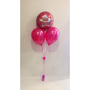 Hen Party Hot Pink Balloon Bunch