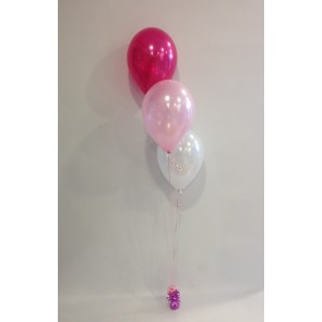 Hot Pink, Pale Pink & White 3 Latex Staggered Bouquet