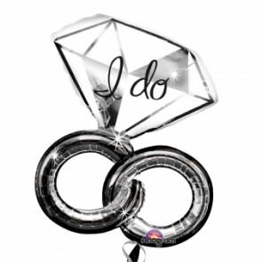 'I Do' Wedding Rings SuperShape Foil Balloon