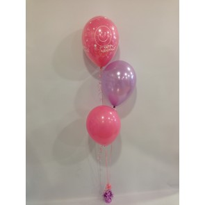 Rose Pink Happy Retirement, Lilac and Rose Pink 3 Latex Staggered Bouquet