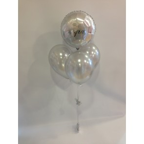 Silver Congrats Balloon Bundle