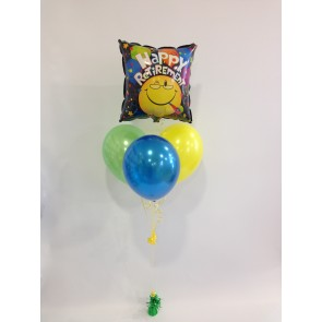 Happy Retirement Smiley Face Balloon Bundle