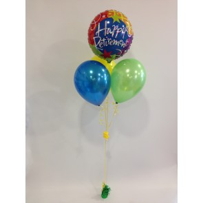 Happy Retirement Multicoloured Balloon Bundle