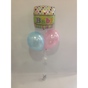 Spots and Stripes Baby Shower Balloon Bunch