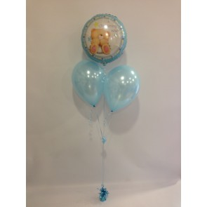 Boy Christening Wish Balloon Bunch
