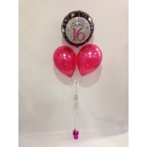 Sweet Sixteen Balloon Bunch
