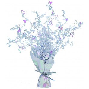 Irridescent Loveheart Spray Centerpiece