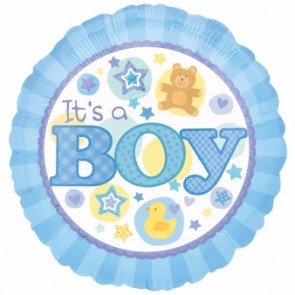Its a Boy Blue Foil Balloon