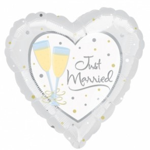 'Just Married' Foil Balloon