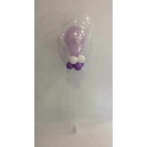 Lilac & White Double Bubble Communion Bouquet