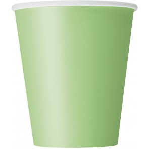 Lime Green Paper Cups