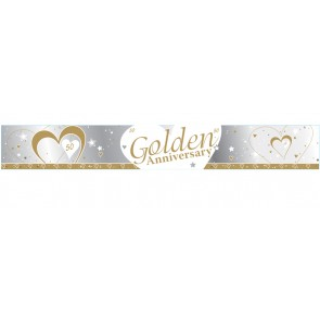 Golden Wedding Anniversary Banner