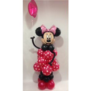 Minnie Mouse Balloon Figure Holding A Pink Star