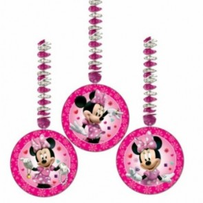 Minnie Mouse Pink Dangling Cutouts