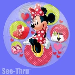 Minnie Mouse See Thru Foil Balloon