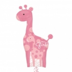 Mum & Baby Pink Giraffes SuperShape Foil Balloon