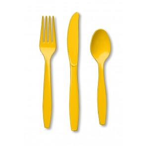 Yellow Plastic Cutlery