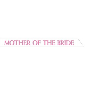 Mother of the Bride Satin Sash
