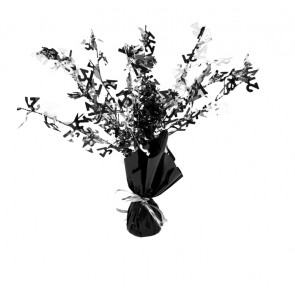 Age 21 Black and Silver Centerpiece