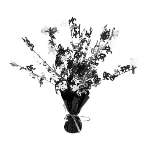 Age 30 Black and Silver Centerpiece