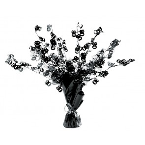 Age 80 Black and Silver Centerpiece
