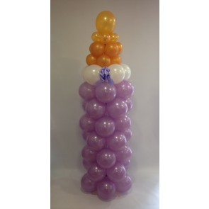 Baby Bottle Balloon Column
