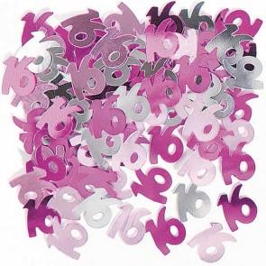 Age 16 Pink Glitz Confetti